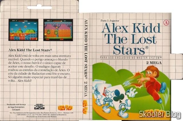 Capa da Tec Toy para o Alex Kidd The Lost Stars.