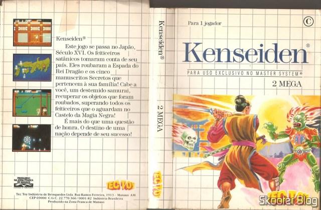 Capa da Tec Toy para o Kenseiden, do Master System.