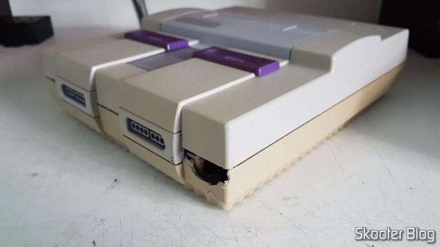 Meu Super Nintendo de infância destruído pelo Correios.