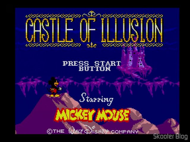 Tela de Abertura do Castle of Illusion.