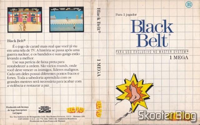 Capa da Tec Toy para o Black Belt - Master System.