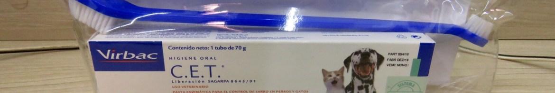 Creme Dental para Cães e Gatos: C.E.T. Pasta Enzimática Higiene Oral 70g Virbac, com necessaire e escova dental de brinde.