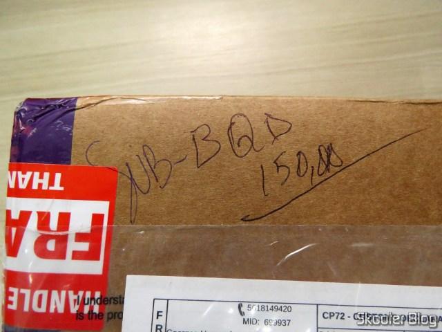 Caixa com o Super Nintendo Original NTSC PCB SHVC-CPU-01 CPU/PPU1/PPU2 1/1/1: anotação esquisita, provavelmente dos auditores da Receita Federal.