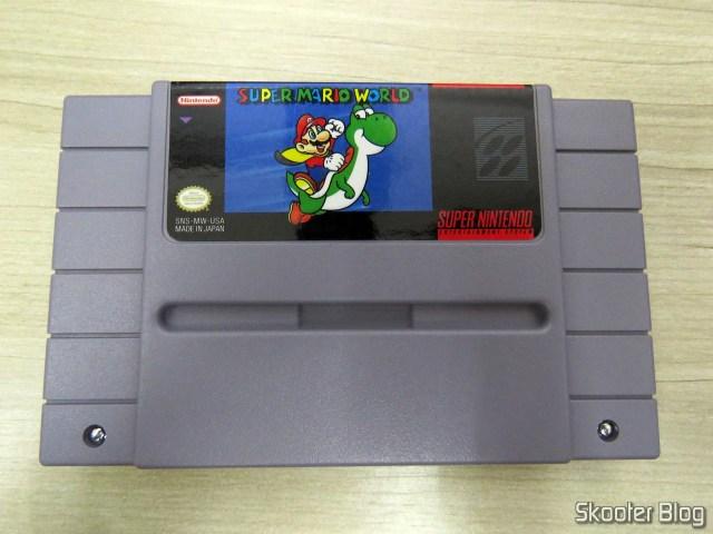 """Cartucho """"Super Mario World"""", após a limpeza."""