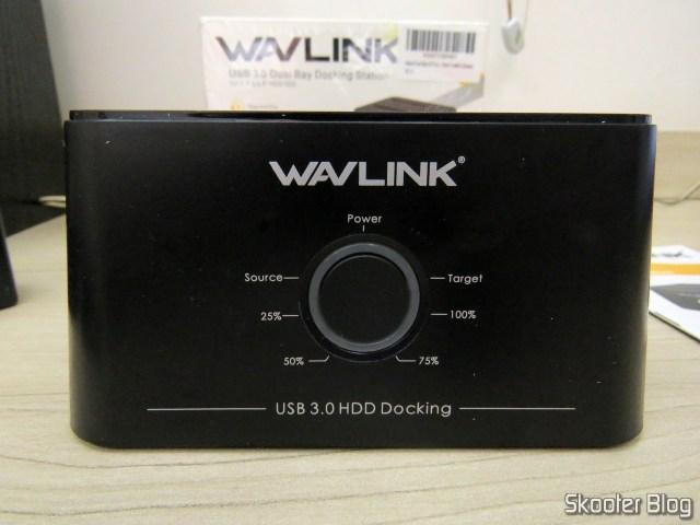 """Wavlink USB 3.0 Dual Bay Docking Station para HDDs e SSDs de 2.5"""" e 3.5""""."""