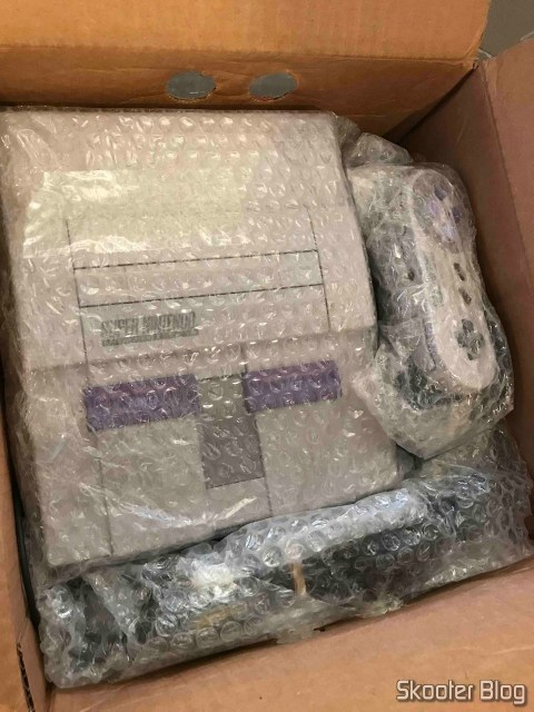 Picture of my Super Nintendo, taken by the Direct Shipping.