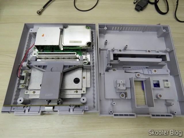 The Super Nintendo inside.
