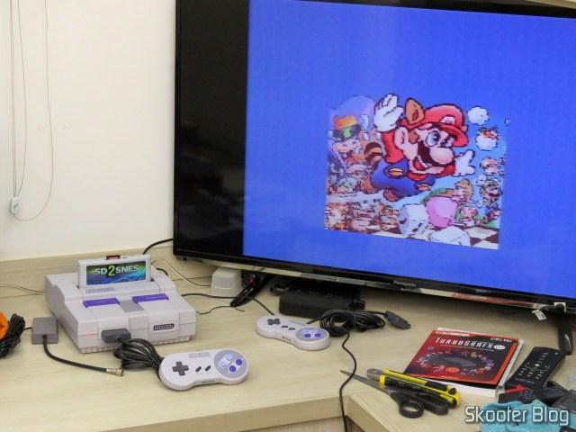 Teste de burn-in do Super Nintendo.
