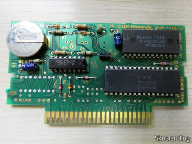 Cartridge Super Mario World plate, with CIC missing.