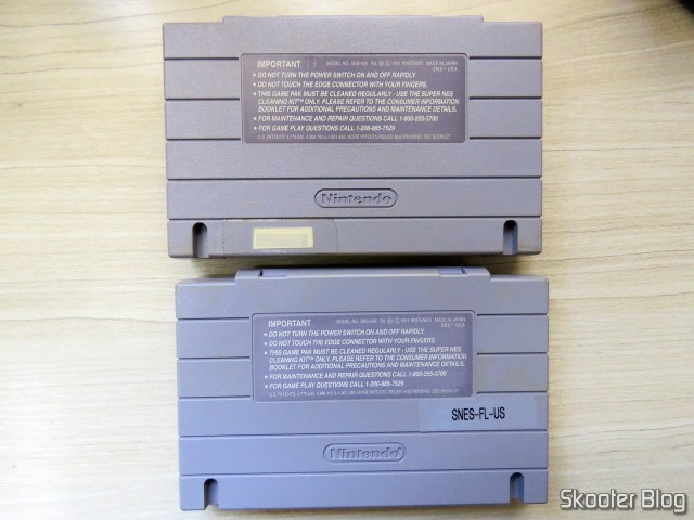 The two Super Mario World cartridge, both original.