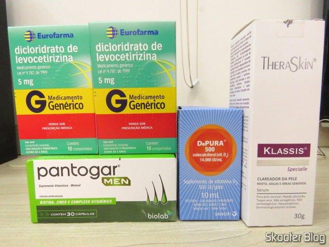 Pantogar Men, Clareador Klassis Specialle, Depura Gotas 500UI, e 2x Dicloridrato de Levocetirizina.