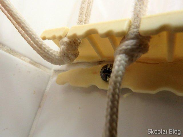 Unidade de suporte para ajuste da altura, do varal prático Secalux.