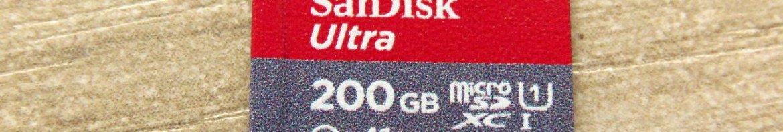 Cartão microSDXC Sandisk Ultra 200GB.