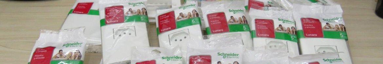 Tomadas e Interruptores Schneider Lunare Prime.