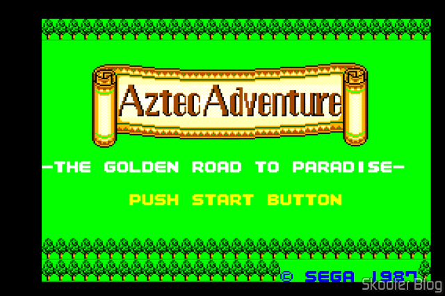 Aztec Adventure – Master System - Tela de Abertura.