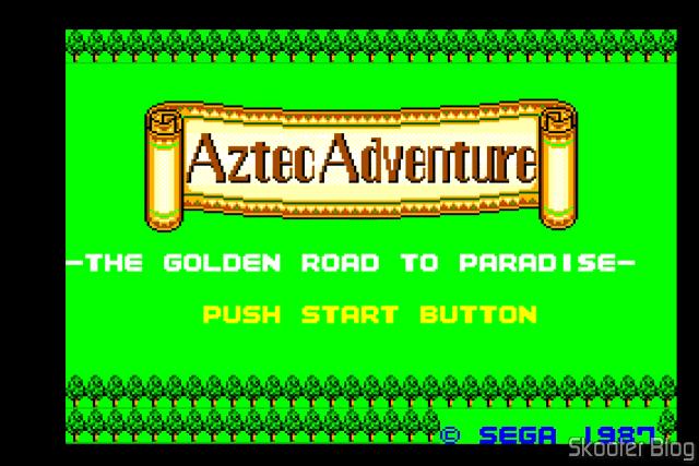 Aztec Adventure – Master System - Opening screen.