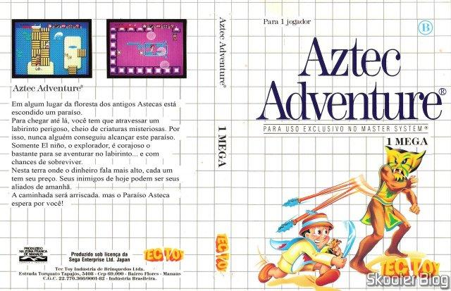 Capa da Tec Toy para o Aztec Adventure.