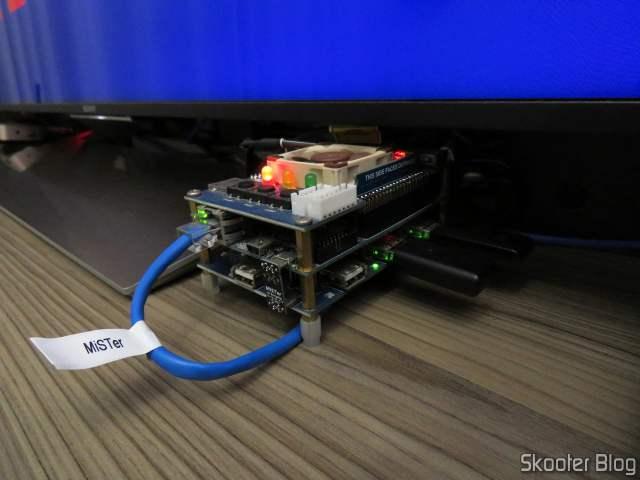 128MB SDRAM module for MiSTer FPGA, installed on my MiSTer FPGA, and running.