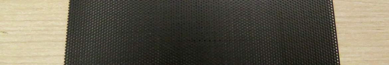 Filtro de Pó de PVC para Ventilador de PC 120mm em Mesh Cortável Preto.