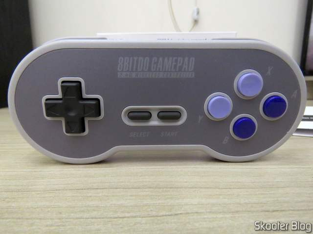 Front of the 8BitDo SN30 2.4G Wireless Controller for Super Nintendo (SNES) Original.