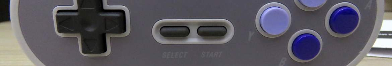 Parte frontal do Controlador 8BitDo SN30 Sem Fio 2.4G para Super Nintendo (SNES) Original.
