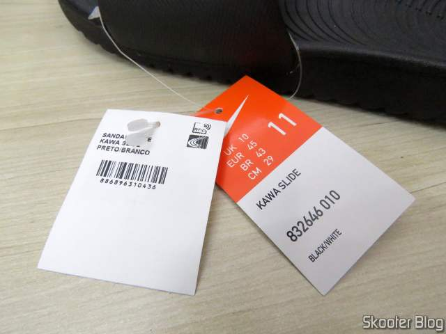 Etiquetas do Chinelo Nike Kawa - Slide - Masculino.