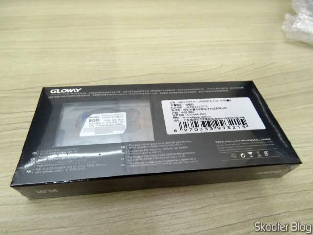 Módulos de Memória Gloway DDR4 16GB (2x8GB) 3200 MHz RGB, em sua embalagem;