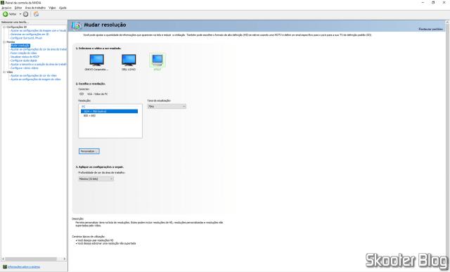 Painel de Controle NVidia - Resolução