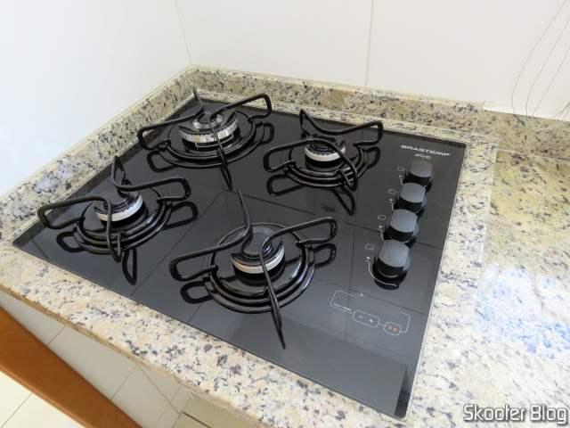 Cooktop 4 bocas Brastemp com duplachama e timer touch - BDT62AE - BIVOLT, já instalado.