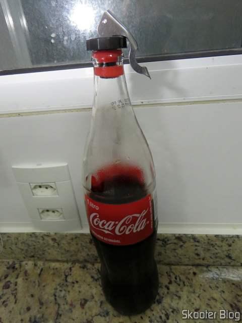 Glass Bottle Cap on Coca-Cola bottle.