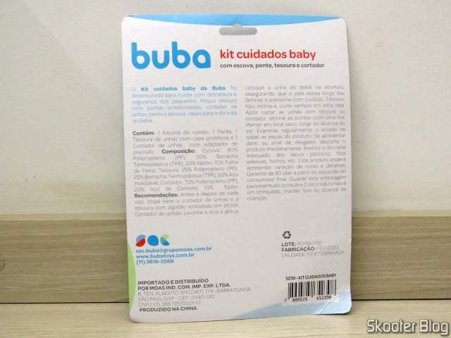 Kit Cuidados Baby Buba com Escova, Pente, Tesoura e Cortador
