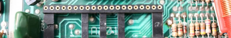 PCB do Atari 2600 (Rev. 17) com o novo socket do TIA instalado.