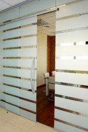Patterernd Glass partitions
