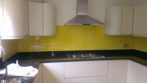 yellow specialist splashbacks
