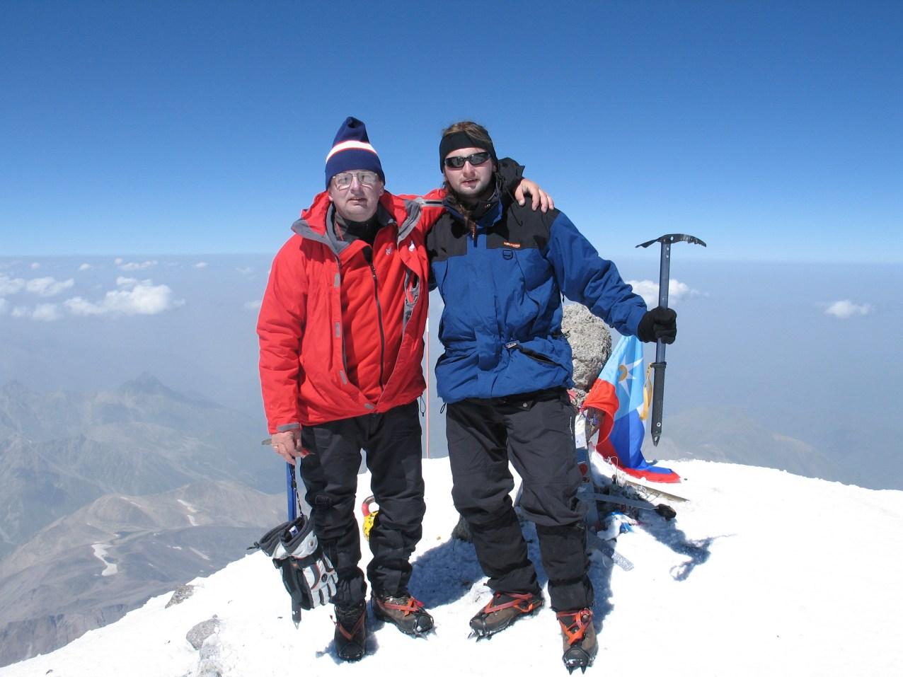 Na szczycie Elbrus - 5642 m n.p.m.