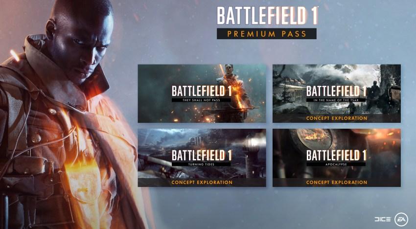 توضيح خريطة طريق الاضافات الخاصة بالـPremium Pass للعبة Battlefield 1