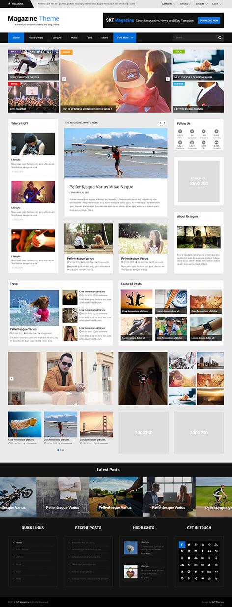 Publication WordPress theme