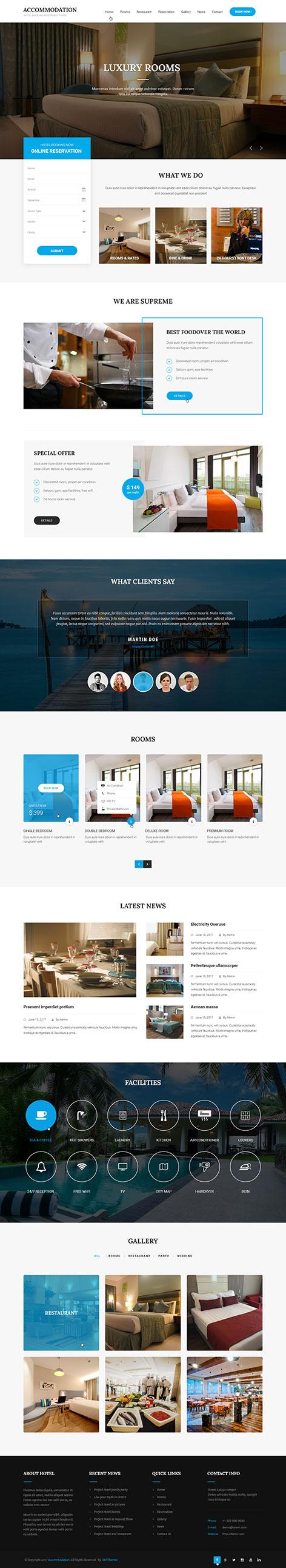 accommodation WordPress theme