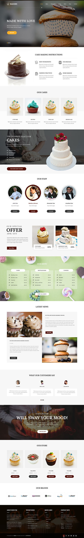 bakers WordPress theme