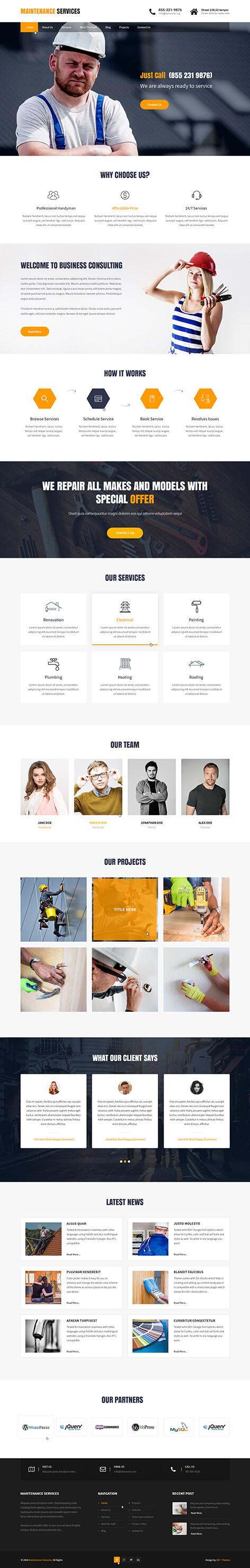 home services WordPress theme