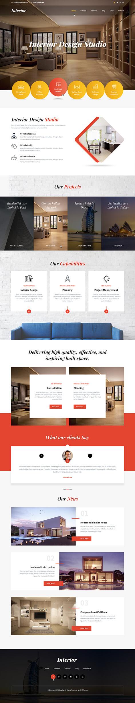 home staging WordPress theme