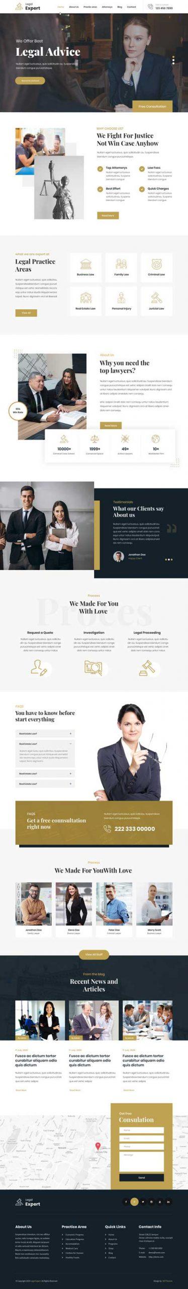 legal expert WordPress theme