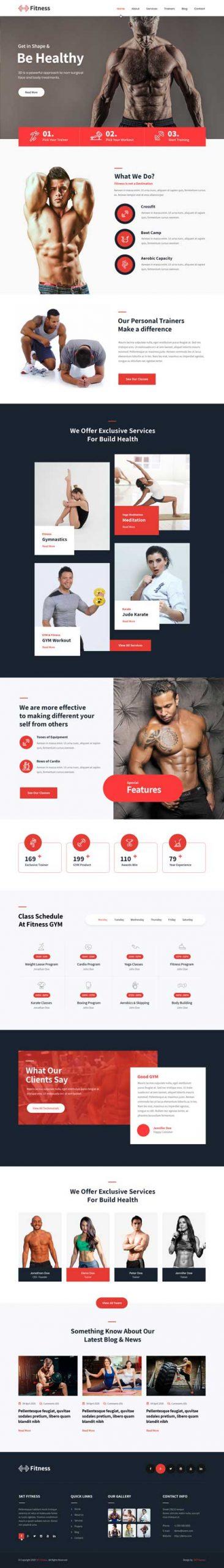 responsive fitness WordPress theme
