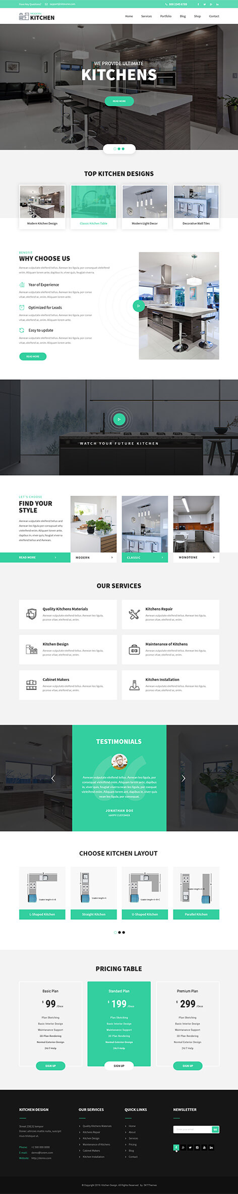 kitchen cabinets WordPress theme