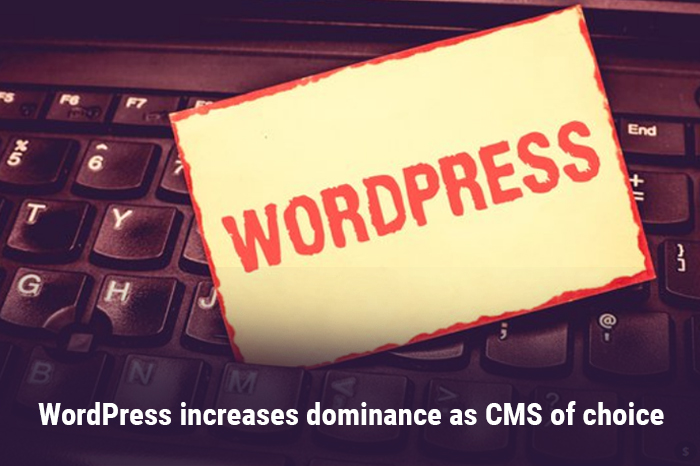 WordPress increases dominance as CMS of choice