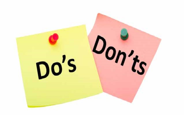 Do's don't
