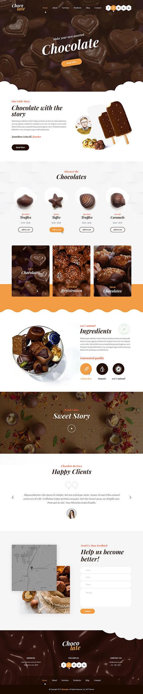 candy shop WordPress theme