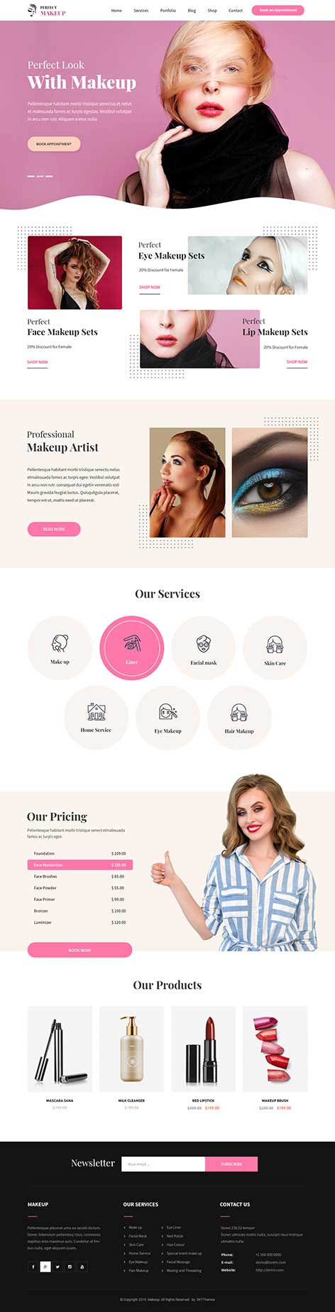 makeup product WordPress theme