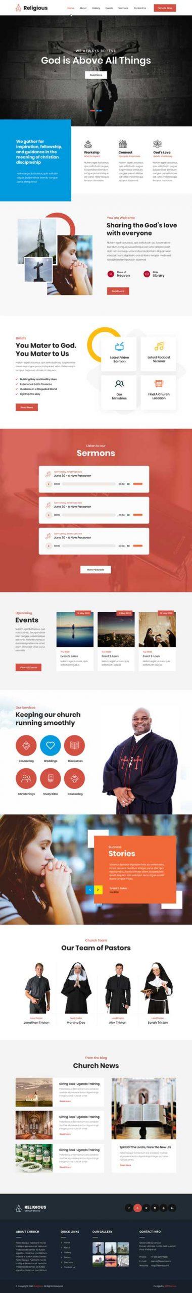 devotional WordPress theme