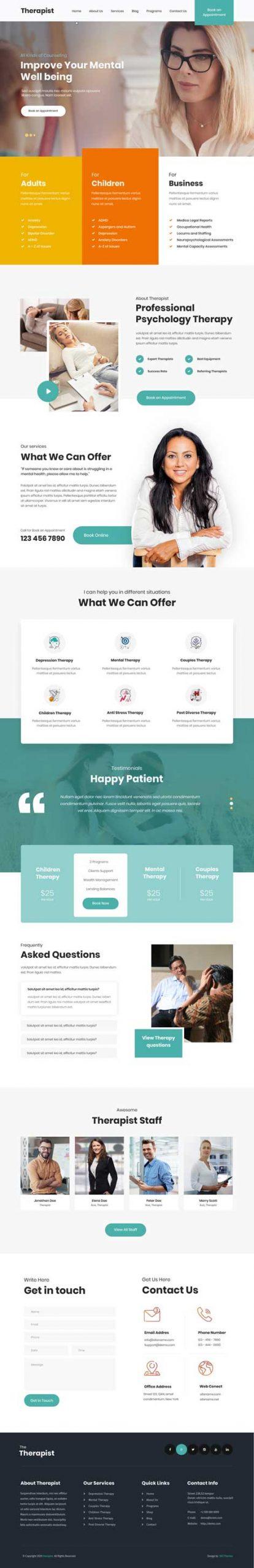 therapist WordPress theme